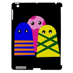 Three Monsters Apple Ipad 3/4 Hardshell Case (compatible With Smart Cover) by Valentinaart