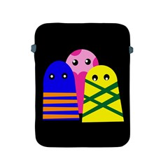 Three Monsters Apple Ipad 2/3/4 Protective Soft Cases by Valentinaart