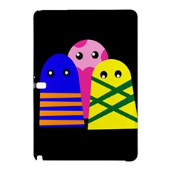 Three Monsters Samsung Galaxy Tab Pro 12 2 Hardshell Case by Valentinaart