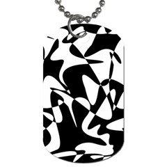 Black And White Elegant Pattern Dog Tag (two Sides) by Valentinaart