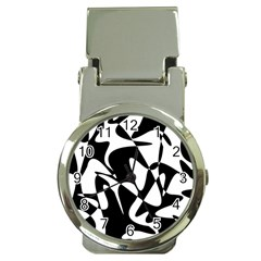 Black And White Elegant Pattern Money Clip Watches by Valentinaart