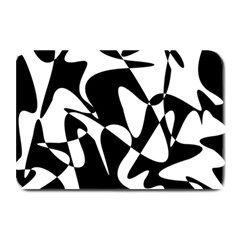 Black And White Elegant Pattern Plate Mats by Valentinaart