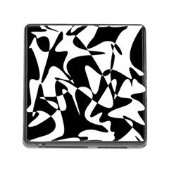 Black and white elegant pattern Memory Card Reader (Square) by Valentinaart
