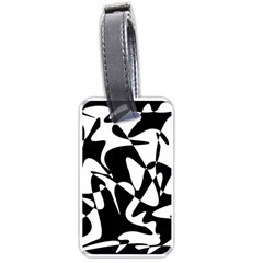 Black And White Elegant Pattern Luggage Tags (one Side)  by Valentinaart