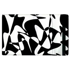 Black And White Elegant Pattern Apple Ipad 2 Flip Case by Valentinaart
