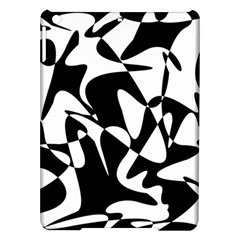 Black And White Elegant Pattern Ipad Air Hardshell Cases by Valentinaart