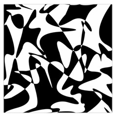 Black And White Elegant Pattern Large Satin Scarf (square) by Valentinaart