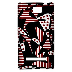 Red, black and white abstraction HTC 8S Hardshell Case