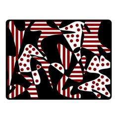 Red, Black And White Abstraction Double Sided Fleece Blanket (small)  by Valentinaart