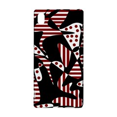 Red, Black And White Abstraction Sony Xperia Z3+ by Valentinaart