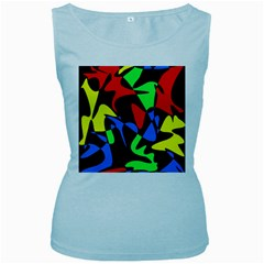 Colorful abstraction Women s Baby Blue Tank Top by Valentinaart