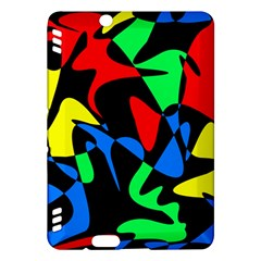 Colorful Abstraction Kindle Fire Hdx Hardshell Case by Valentinaart