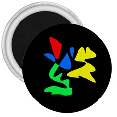 Colorful Abstraction 3  Magnets by Valentinaart