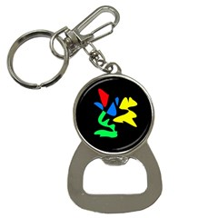 Colorful Abstraction Bottle Opener Key Chains by Valentinaart