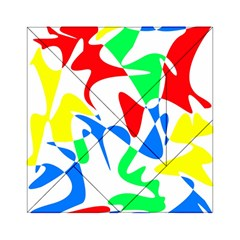Colorful abstraction Acrylic Tangram Puzzle (6  x 6 ) by Valentinaart