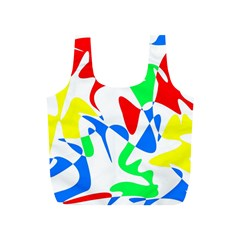 Colorful Abstraction Full Print Recycle Bags (s)  by Valentinaart