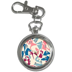 Blue, Pink And Purple Pattern Key Chain Watches by Valentinaart