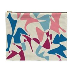 Blue, Pink And Purple Pattern Cosmetic Bag (xl) by Valentinaart