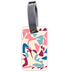 Blue, Pink And Purple Pattern Luggage Tags (one Side)  by Valentinaart
