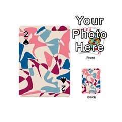 Blue, Pink And Purple Pattern Playing Cards 54 (mini)  by Valentinaart