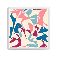 Blue, Pink And Purple Pattern Memory Card Reader (square)  by Valentinaart