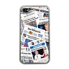 Hillary 2016 Historic Newspapers Apple Iphone 4 Case (clear) by uspoliticalhistory