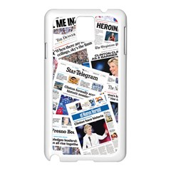 Hillary 2016 Historic Newspapers Samsung Galaxy Note 3 N9005 Case (white) by uspoliticalhistory