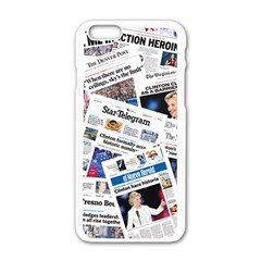 Hillary 2016 Historic Newspapers Apple Iphone 6/6s White Enamel Case by uspoliticalhistory