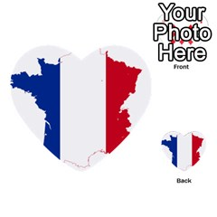 Flag Map Of France Multi Purpose Cards (heart)  by abbeyz71