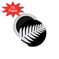 New Zealand Silver Fern Flag 1.75  Magnets (10 pack)  by abbeyz71
