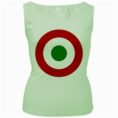 Roundel Of The Italian Air Force, 1911 1946 Women s Green Tank Top by abbeyz71