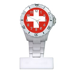 Coat Of Arms Of Switzerland Plastic Nurses Watch by abbeyz71
