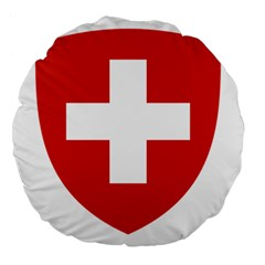 Coat Of Arms Of Switzerland Large 18  Premium Flano Round Cushions by abbeyz71