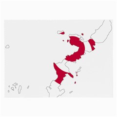 Flag Map Of Okinawa Prefecture Large Glasses Cloth (2-Side) by abbeyz71