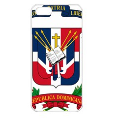 Coat Of Arms Of The Dominican Republic Apple iPhone 5 Seamless Case (White)