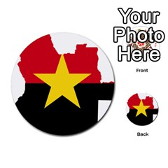 Mpla Flag Map Of Angola  Multi Purpose Cards (round)  by abbeyz71