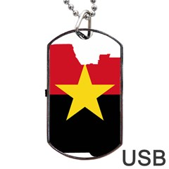 Mpla Flag Map Of Angola  Dog Tag USB Flash (One Side) by abbeyz71