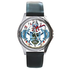 Coat Of Arms Of The Seychelles Round Metal Watch by abbeyz71