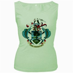 Coat Of Arms Of The Seychelles Women s Green Tank Top by abbeyz71