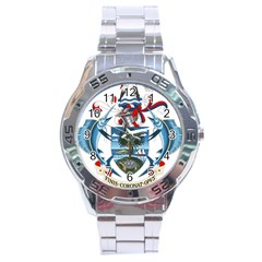 Coat Of Arms Of The Seychelles Stainless Steel Analogue Watch by abbeyz71