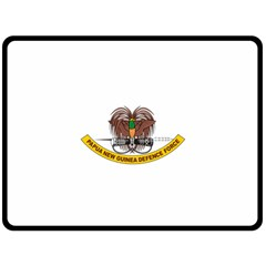 Papua New Guinea Defence Force Emblem Double Sided Fleece Blanket (Large)  by abbeyz71