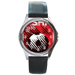 Crest Of The Albanian National Football Team Round Metal Watch