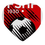 Crest Of The Albanian National Football Team Ornament (Heart)