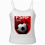 Crest Of The Albanian National Football Team White Spaghetti Tank