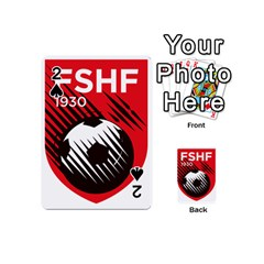 Crest Of The Albanian National Football Team Playing Cards 54 (Mini)  by abbeyz71