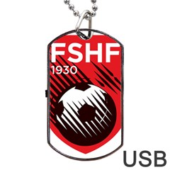 Crest Of The Albanian National Football Team Dog Tag Usb Flash (two Sides)