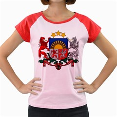 Coat Of Arms Of Latvia Women s Cap Sleeve T-Shirt by abbeyz71