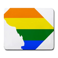 Lgbt Flag Map Of Washington, D C Large Mousepads by abbeyz71