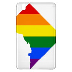 Lgbt Flag Map Of Washington, D C Samsung Galaxy Tab Pro 8 4 Hardshell Case