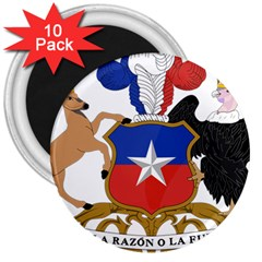 Coat Of Arms Of Chile  3  Magnets (10 Pack)  by abbeyz71